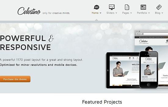 Clean portfolio theme.