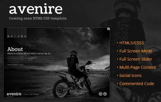 Free Coming Soon HTML Template