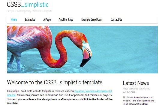minimalistic HTML5 and CSS3 template.