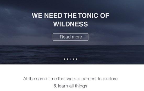 Clean website design template PSD