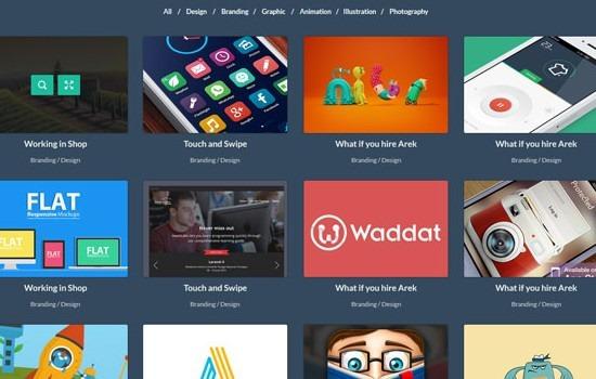 creative simple portfolio & blog PSD