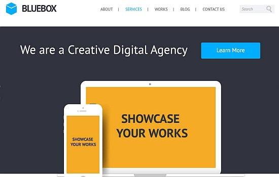 BlueBox: Flat Website PSD