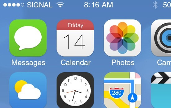 Fantastic iOS 7 GUI