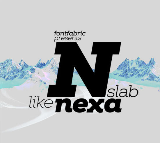 Next to Naught: Nexa Slab Font, Typeface with Multi-National Characterset, Dirt-Cheap