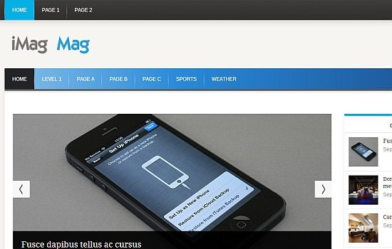 iMag Mag - responsive WordPress Theme