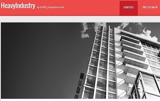 heavyindustry HTML5 template