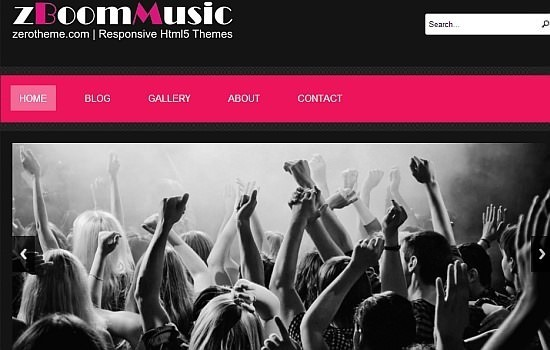 zBoomMusic – Free Responsive Html5 Theme