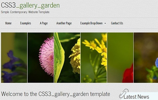 CSS3_gallery_garden template