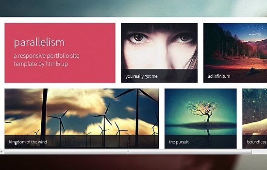 parallelism  a responsive portfolio site template
