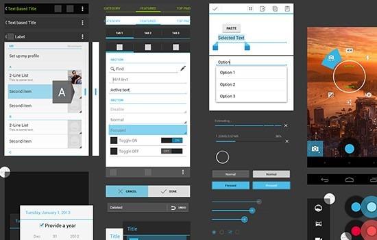 Nexus 4 GUI psd