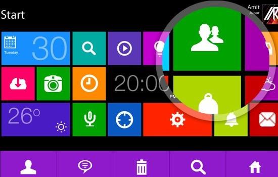 Window8 Metro GUI