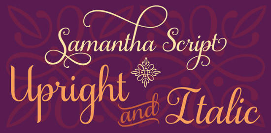 Grab Beautiful Samantha Script Font As Long As It's Almost Free!