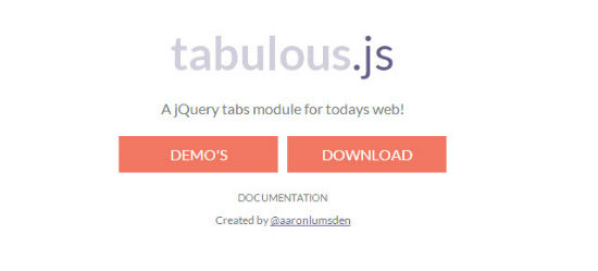 Tabulous.js: Organize Random Content in Tabs with jQuery
