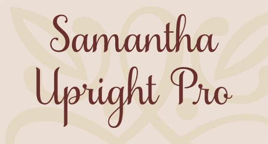 Grab beautiful samantha script font as long it s almost