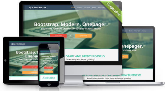 Bootstrap Happiness: 10 Premium Responsive HTML5/CSS3 Templates For ONE Dollar Each