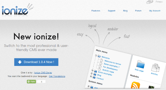 Ionize CMS: Multilingual Developers Dreams Come True