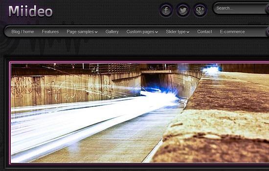 Neon light WP theme