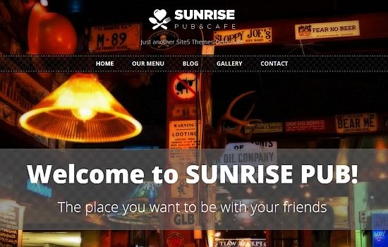 Sunrise pub theme