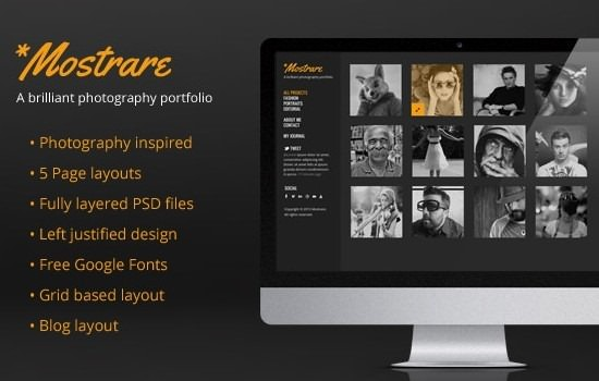 Photography Portfolio PSD Template