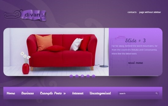 Stylish WP theme Divan