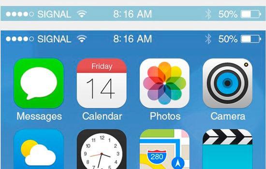 iOS 7 GUI