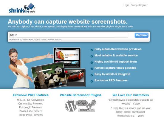 shrinktheweb-homepage