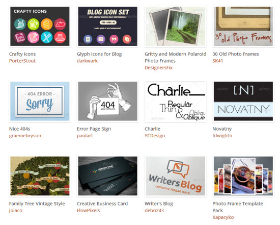 The Blogger Bundle: an excerpt of the included design resources