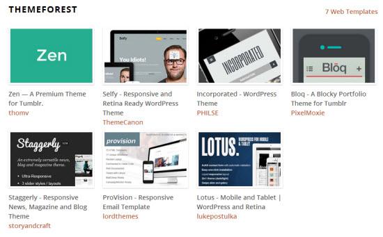 The Blogger Bundle includes premium themes