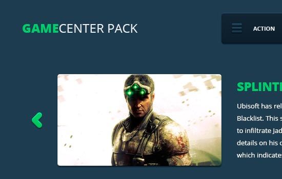 Gamecenter pack UI