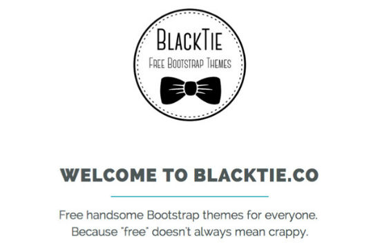 Blacktie.co: Premium Bootstrap 3 Themes for Free