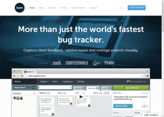 BugHerd: Lean & Clean Task- and Bug-Management for Web-Projects