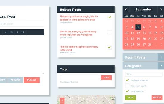 Flat UI HTML/CSS