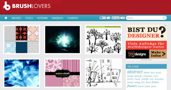 Brushlovers – Free Photoshop Brushes, Styles and Patterns En Masse