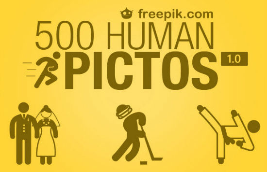Exclusive Freebie on Noupe: Human Pictos with 500 Icons of Everyday People