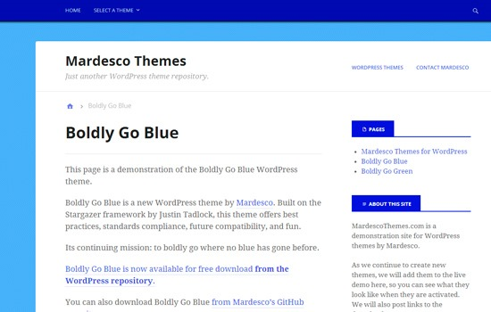Boldly Go Blue theme