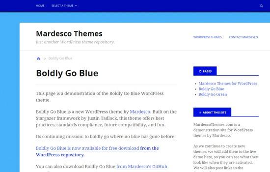 Boldly Go Blue theme