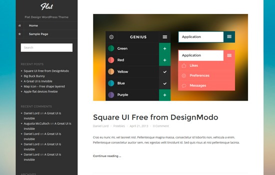 20 Inspiring Free WordPress Themes To Start Anew in 2014 - noupe