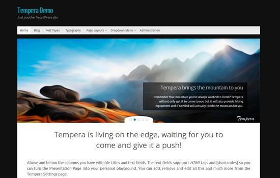 Tempera theme
