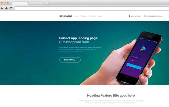 Smart App PSD template