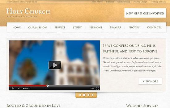Church Website PSD tempate