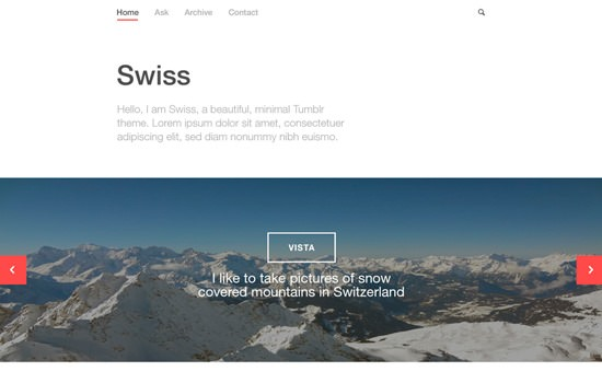 Swiss PSD template