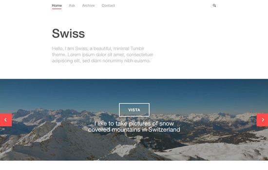 Swiss PSD template