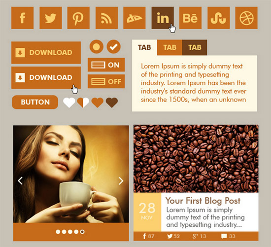 Coffee-Web-UI-Kit