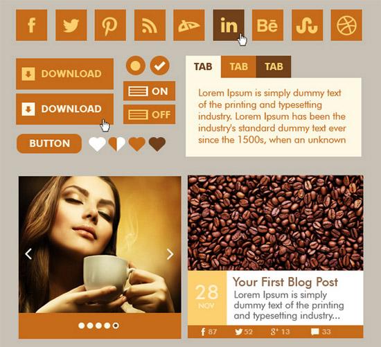Coffee-Web-UI-Kit