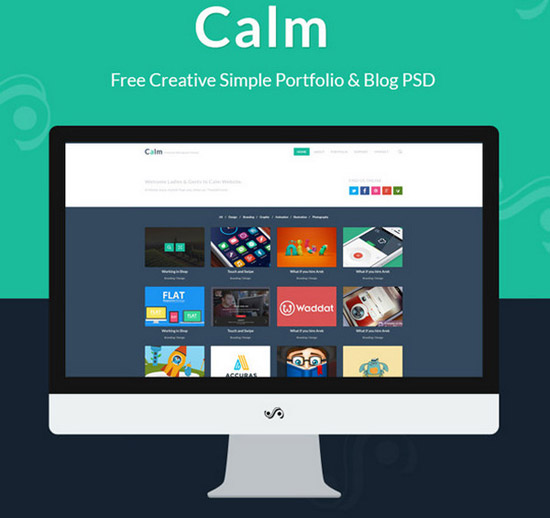 Creative-Simple-Portfolio-&-Blog-PSD