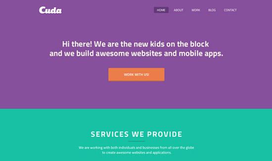 Cuda-Single-Page-Portfolio-Template