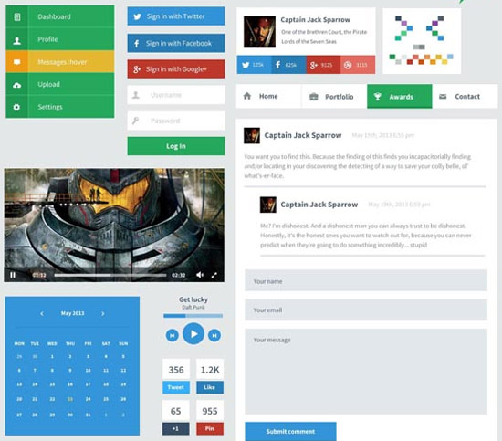 Eerste-–-Flat-User-Interface-Kit