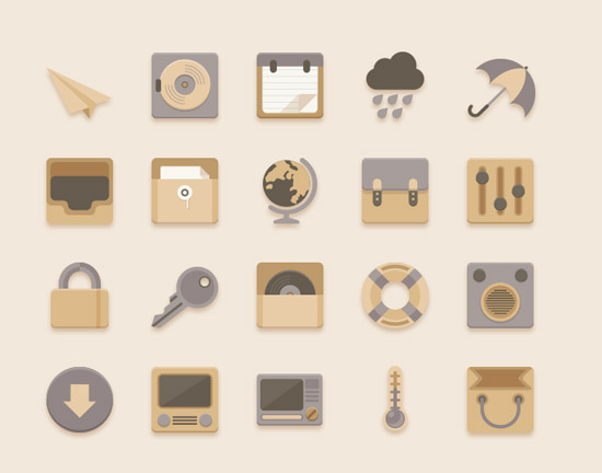 Flat-Icons-Vanilla-Choc-Chip-Theme