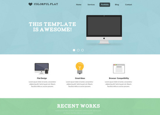 Flat-One-Page-Website