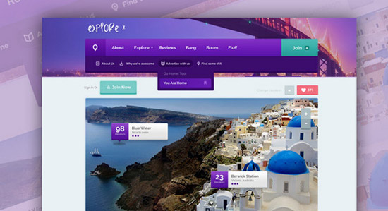 Funky-&-creative-website-PSD-template